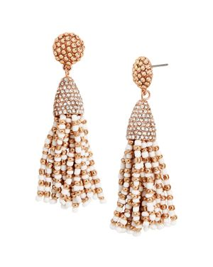 Baublebar Two-Tone Mini Tassel Drop Earrings