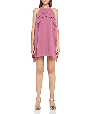 BCBGeneration Ruffled Chiffon A-Line Dress