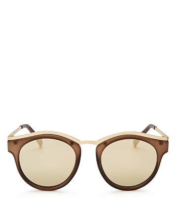 $Le Specs Hypnotize Mirrored Round Sunglasses, 50mm - Bloomingdale's