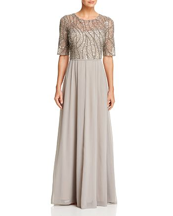 Adrianna Papell - Beaded Bodice Gown
