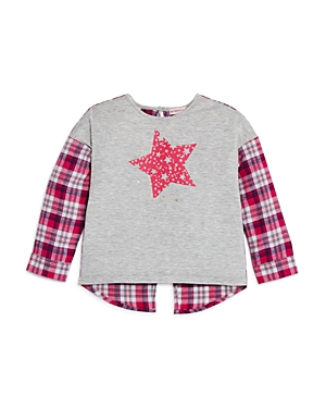 Design History Girls' Star Plaid Top - Little Kid