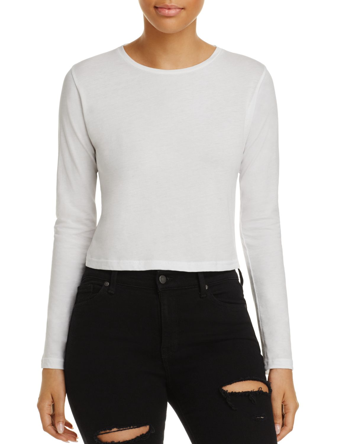 carolina-crop-long-sleeve-tee by j-brand
