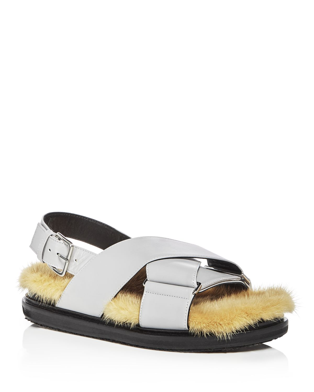 Marni Women's Fusbett Leather & Mink Sandals