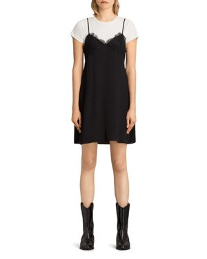Allsaints Ives Layered-Look Dress