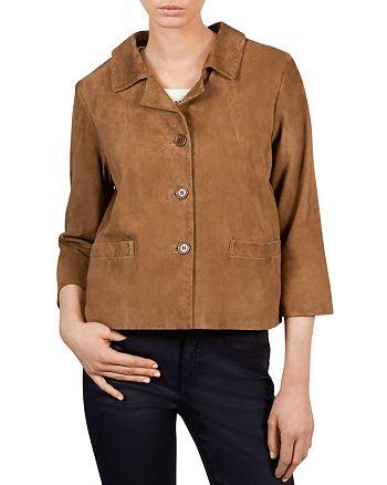 Gerard Darel - Alana Cropped Leather Jacket