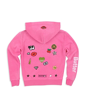 Butter Girls' Lips Patches Embellished Hoodie - Big Kid