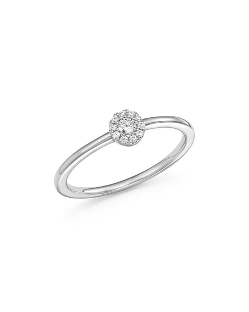 Bloomingdale's - Diamond Cluster Stacking Ring in 14K White Gold, .10 ct. t.w. - 100% Exclusive