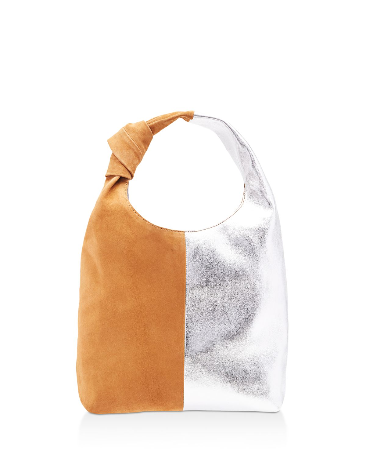 Knot Metallic Leather And Suede Hobo by Loeffler Randall