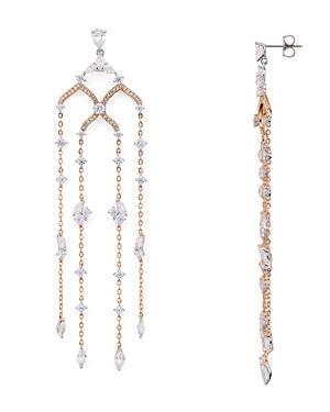 Nadri Ivy Chain Chandelier Earrings