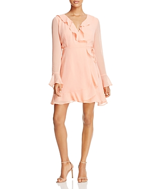 Wayf Gabby Long-Sleeve Ruffle Wrap Dress - 100% Exclusive