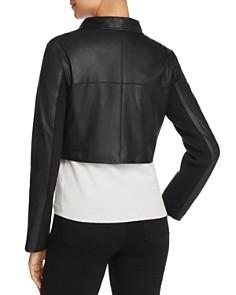 BB DAKOTA - Shiloh Cropped Leather Biker Jacket