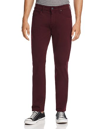 PAIGE - Federal Slim Fit Jeans in Dark Bordeaux