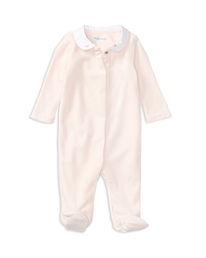 Ralph Lauren Childrenswear Girls Velour Footie  Baby