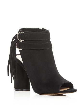 VINCE CAMUTO - Women's Catinca Nubuck Leather High-Heel Booties