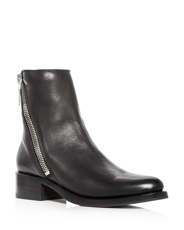 Frye Women's Demi Leather Block Heel Booties Nq75v