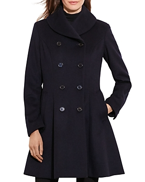 Lauren Ralph Lauren Fit-and-Flare Military Coat