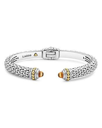 LAGOS - 18K Gold and Sterling Silver Caviar Color Citrine Cuff, 8mm