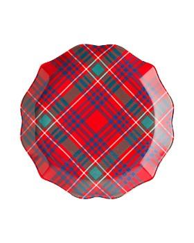 Juliska - Tartan Plaid Tidbit Plate, Set of 4