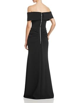 e750acf4c83d ... AQUA - Off-the-Shoulder Scuba Crepe Gown - 100% Exclusive