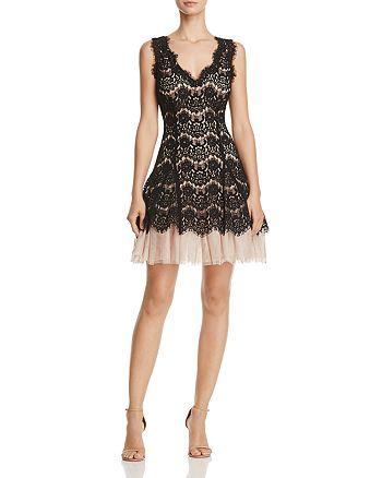 Avery G - Tulle-Hem Lace Dress
