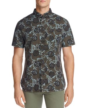 Surfside Supply Floral Batik Short Sleeve Button-Down Regular Fit Shirt