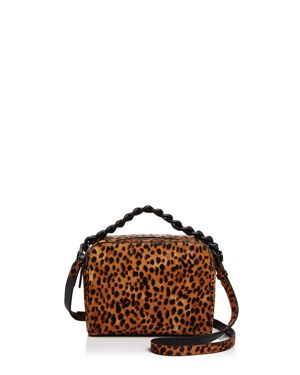 Kendall and Kylie Lucy Leopard Print Calf Hair Crossbody