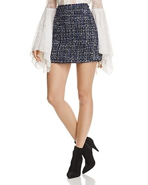 Alice + Olivia Riley Tweed Mini Skirt