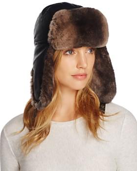 Crown Cap - Lambskin and Rabbit Fur Aviator Hat