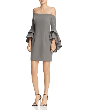 Milly Selena Ruffle Off-the-Shoulder Dress