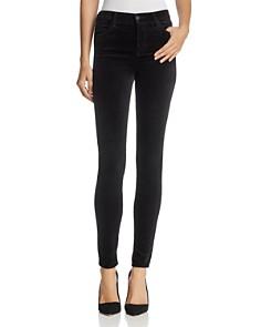 J Brand - Maria Velvet Skinny Jeans in Black