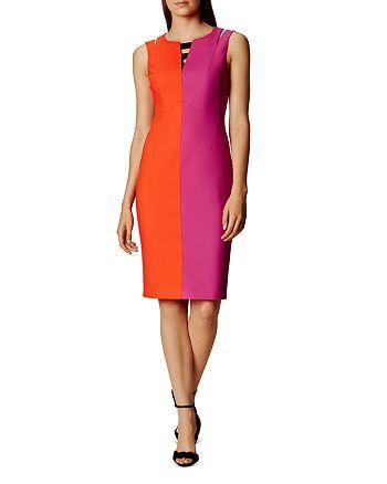 62693f80f0 KAREN MILLEN Color-Blocked Pencil Dress   Bloomingdale's