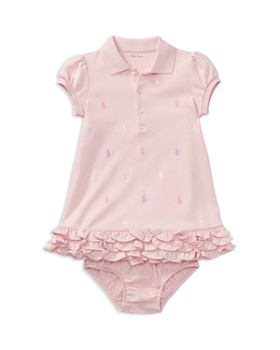 Ralph Lauren - Girls' Ruffled & Embroidered Polo Dress with Bloomers - Baby