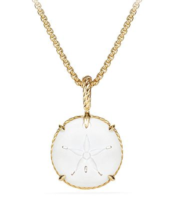 David Yurman - Sand Dollar Amulet with 18K Gold