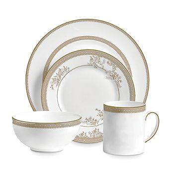 Wedgwood - Vera Lace Gold 4-Piece Place Setting