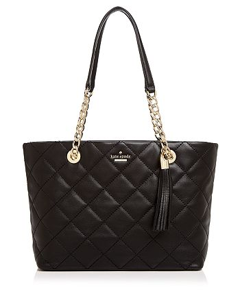 kate spade new york - Emerson Place Priya Small Quilted Leather Tote