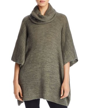 Aqua Rib Turtleneck Poncho - 100% Exclusive