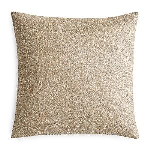 Hudson Park Pietra Metallic Beaded Decorative Pillow, 18 x 18 - 100% Exclusive