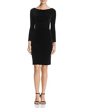 Armani Collezioni Ruched Velvet Dress