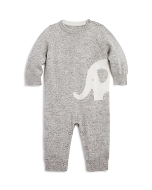 Bloomie's Unisex Intarsia Elephant Cashmere Coverall, Baby - 100% Exclusive