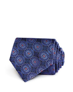Canali Large Medallion Classic Tie