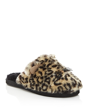 kate spade new york Belindy Leopard Print Faux Fur Cat Slippers