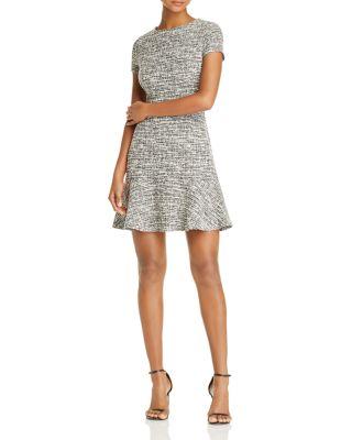 $AQUA Tweed Dress - 100% Exclusive - Bloomingdale's