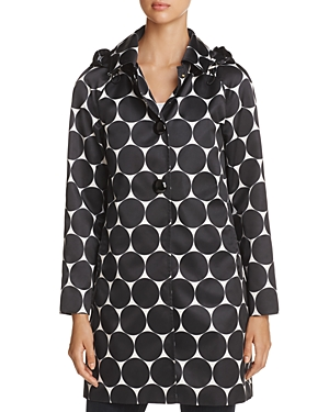 kate spade new york Dot Print Raincoat