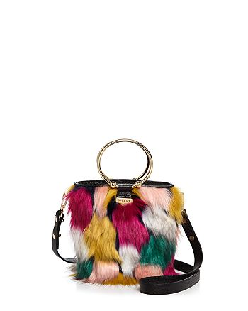 3b0979de728 MILLY Drawstring Faux-Fur Bucket Bag   Bloomingdale s
