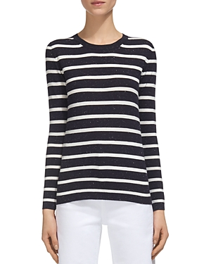 Whistles Annie Striped Sparkle Sweater