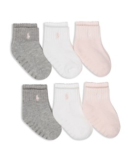 Ralph Lauren - Girls' Socks, 6 Pack - Baby