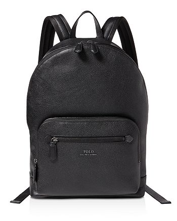Polo Ralph Lauren - Pebbled-Leather Backpack 0c00126571fab