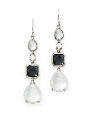 Ippolita Sterling Silver Rock Candy Mother-of-Pearl Doublet, Hematite Doublet & Clear Quartz Linear