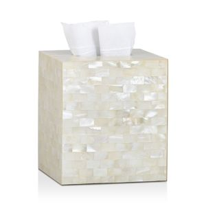 Labrazel White Agate Tissue Box