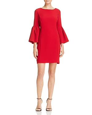 Laundry by Shelli Segal Bell-Sleeve Crepe Shift Dress